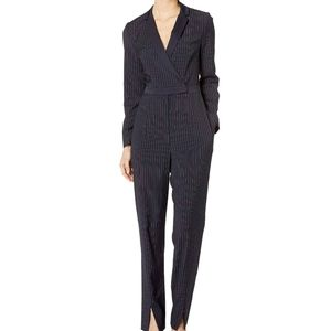 BCBGMAXAZRIA Black Striped Elegant Suit Jumper M